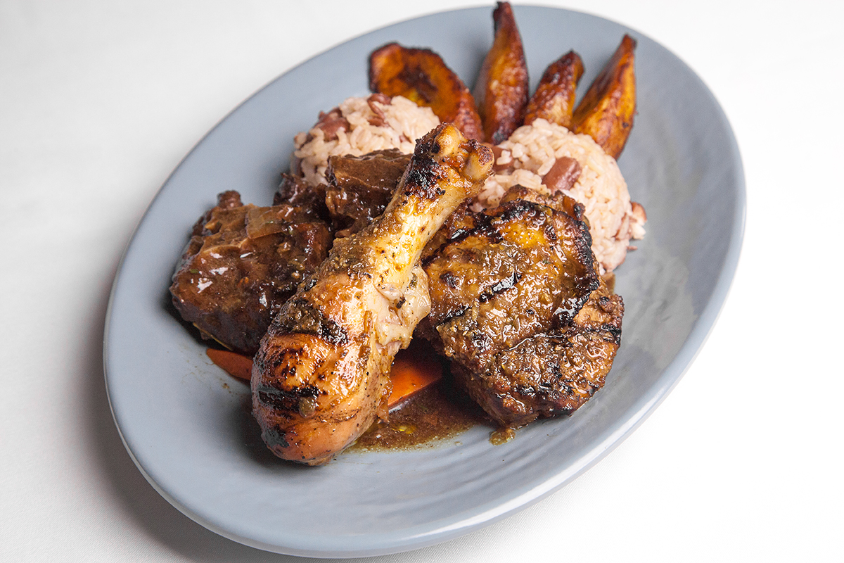 Beef Oxtails & Jerk Chicken